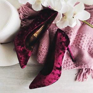 carlos by carlos santana red velvet heels